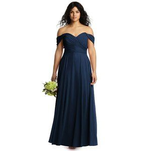 Dessy Collection Bridesmaid 2970 Midnight NWOT